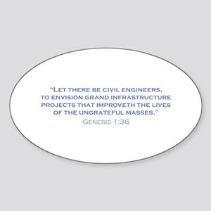 Civil Engineers / Genesis Sticker (Oval)
